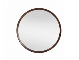 Modrest Selena - Modern Round Acacia Mirror