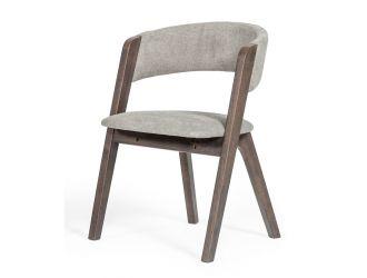 Modrest Grover - Modern Grey & Dark Wenge Dining Chair (Set of 2)
