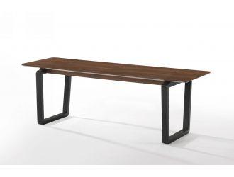 Modrest Escot - Modern Walnut & Black Bench