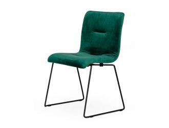 Modrest Yannis - Modern Green Fabric Dining Chair (Set of 2)