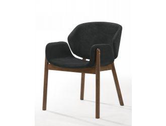 Modrest Jozy - Modern Grey & Walnut Dining Chair (Set of 2)