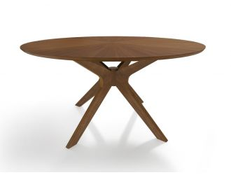 "Modrest Prospect - Modern 47"" Round Walnut Dining Table"
