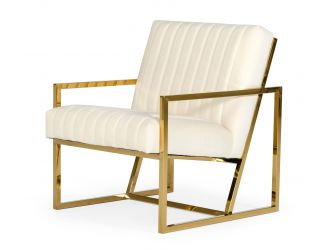Divani Casa Baylor - Modern Off-White Accent Chair