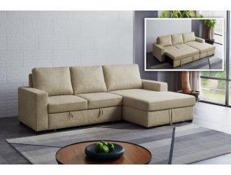 Divani Casa Nebula - Modern Beige Fabric Sofa Bed