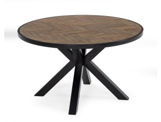 Modrest Pasada - Industrial Brown Acacia Dining Table