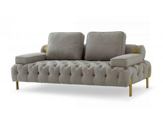 Divani Casa Ladera - Glam Grey and Gold Fabric Loveseat