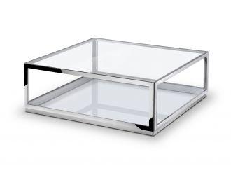 Modrest Weller - Modern Stainless Steel Coffee Table