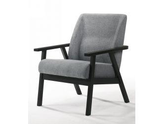 Modrest Borden - Modern Black and Grey Fabric Accent Chair
