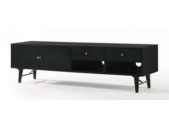 Modrest Bonfoy - Modern Black Ash TV Stand