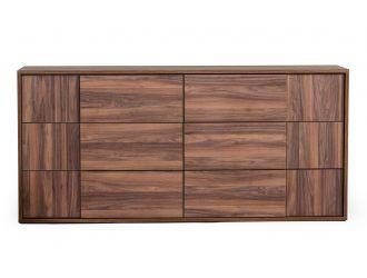Nova Domus Asus - Italian Modern Walnut Dresser