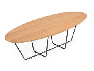 Modrest Esther - Industrial Large Oak Coffee Table
