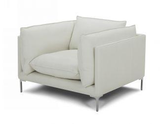 Divani Casa Harvest - Modern White Full Leather Chair