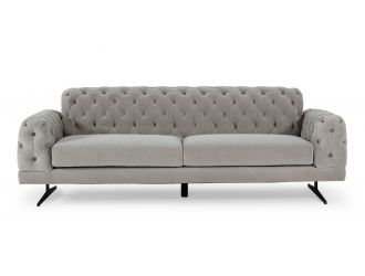 Divani Casa Sepulveda - Modern Grey Fabric Sofa