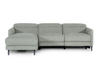 Divani Casa Lupita - Modern Grey Fabric Left Facing Sectional Sofa