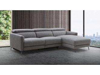 Divani Casa Lupita - Modern Grey Fabric Right Facing Sectional Sofa