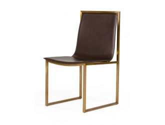 Modrest Dalton - Modern Brown Leatherette Dining Chair (Set of 2)