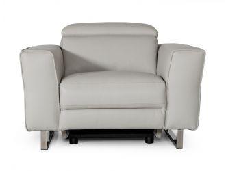 Accenti Italia Lucca - Italian Modern Grey Armchair w/ Electric Recliner