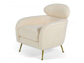 Modrest Altura - Modern Faux Fur Lounge Chair