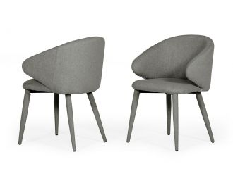 Modrest Keller - Modern Grey Dining Chair (Set of 2)