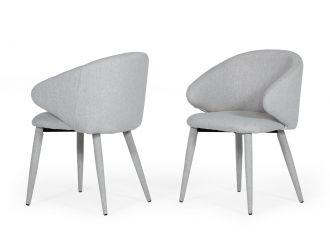 Modrest Keller - Modern Light Grey Dining Chair (Set of 2)