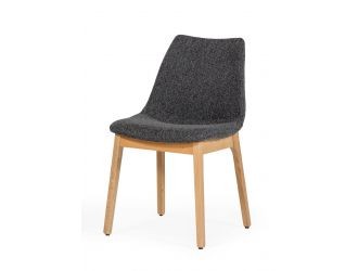 Modrest Chrissy - Modern Dark Grey Fabric Dining Chair (Set of 2)