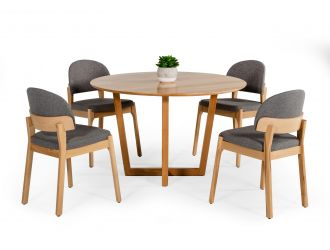 Modrest Legacy - Modern Round Solid Beechwood Dining Table