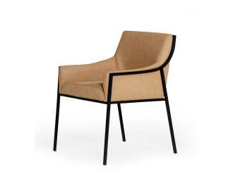 Modrest Raul - Modern Suede Tan Dining Chair
