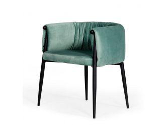 Modrest Belcaro - Modern Light Green Fabric Dining Chair