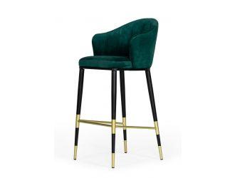 Modrest Adak - Modern Glam Green with Black & Gold Barstool