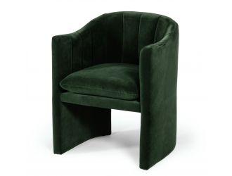 Modrest Danube - Modern Jade Green Fabric Dining Chair