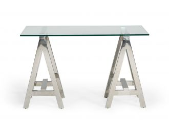 Modrest Ostrow - Modern Glass & Stainless Steel Console Table