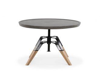 Modrest Yates Modern Concrete & Oak Coffee Table