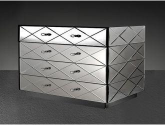 Segovia - Modern Mirrored Bedroom Furniture Dresser
