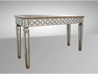 Hyde Transitional Mirrored Console Table