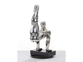 SZ0173 Modern Silver Gymnast-B Sculpture