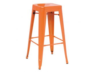 Detroit - Modern Orange Metal Barstool (Set of 4)