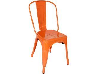 Elan Modern Orange Metal Dining Chair