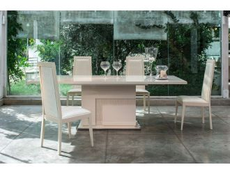 Ancona Modern Beige Extendable Dining Table