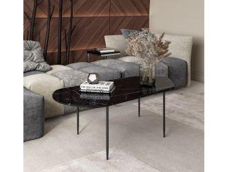 Modrest Andros - Black Marble + Black Metal Coffee Table
