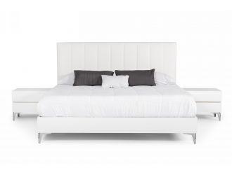Nova Domus Angela - Italian Modern White Eco Leather Bedroom Set
