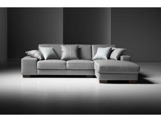 Estro Salotti Arrone Modern Grey Fabric Sectional Sofa
