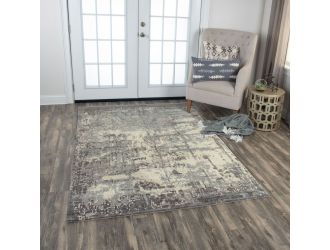 Kaaleen Artistry Contemporary Gray 9' x 12' Rug