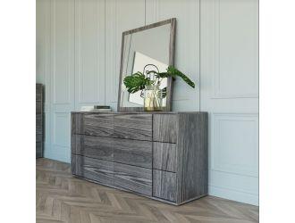 Nova Domus Asus - Italian Modern Elm Grey Dresser