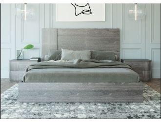 Nova Domus Asus - Italian Modern Elm Grey Bed
