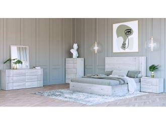 Nova Domus Asus - Modern Italian White Bed