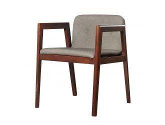 Modrest Avrum - Modern Dark Grey Eco-Leather Dining Chair (Set of 2)