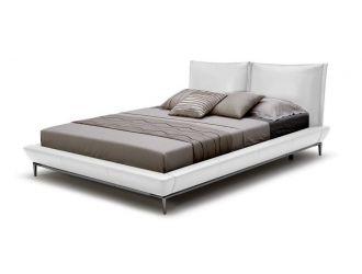 Modrest Loft Modern White Eco-Leather Bed