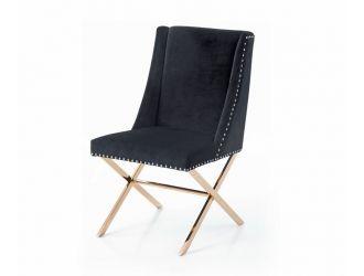 Modrest Alexia Modern Black & Rosegold Dining Chair