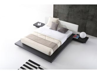 Modrest Opal Modern Wenge & White Platform Bed
