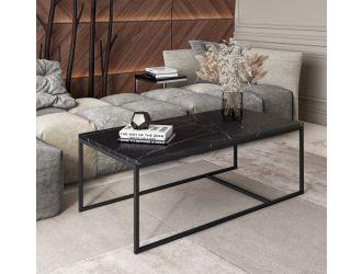 Modrest Baca - Black Marble + Metal Coffee Table